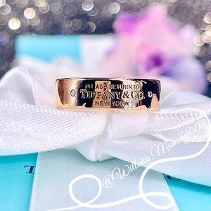 T&Co. Return to Tiffany 18k RG Diamond Narrow Ring